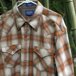 Men's Pendleton Canyon flannel shirt long XL